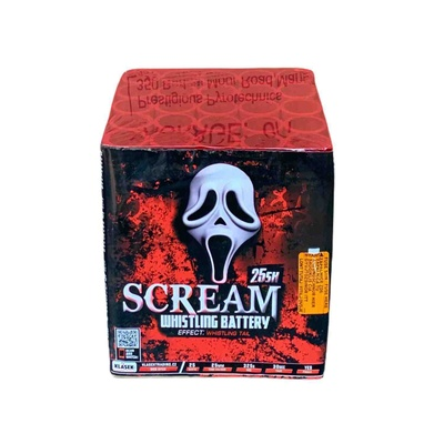 Scream 25 shot Whistling Battery Firework Klasek